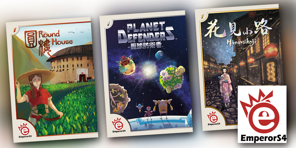 EmperorS4 Games - Hanamikoji, Planet Defenders und Round House