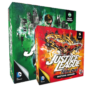 Flash und Green Lantern für Justice League: Hero Dice angekündigt