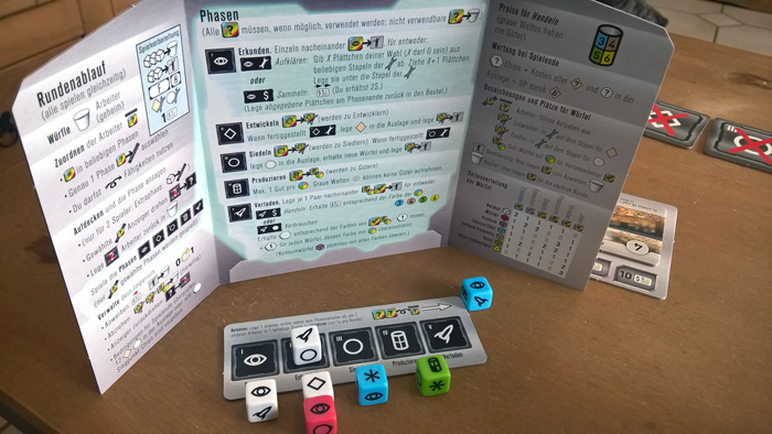 Test: Roll for the Galaxy, Spiel, Brettspiel, Rezension, Pegasus