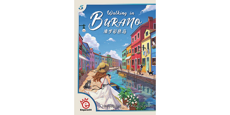 Walking in Burano erscheint 2019 bei Board Game Circus