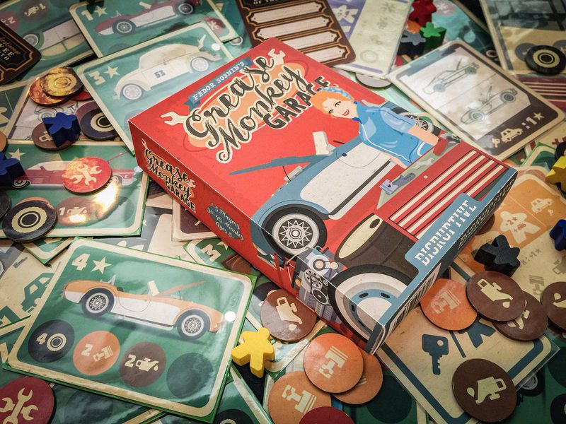 Grease Monkey Garage von Board Game Circus für 2019 angekündigt
