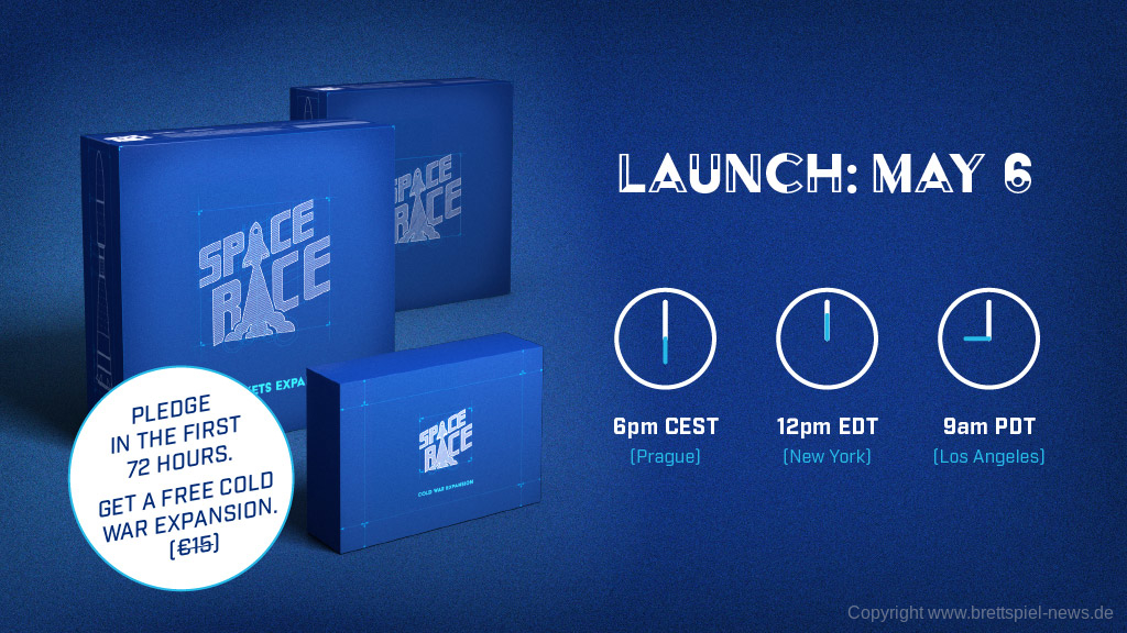 KICKSTARTER // SPACE RACE startet am 6. Mai 2019
