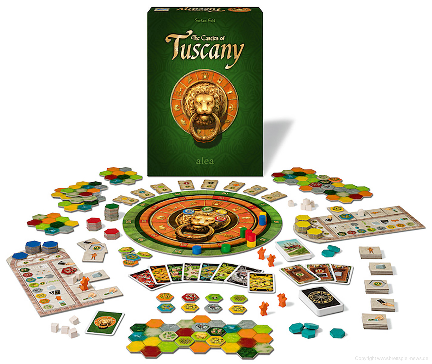 The Castles of Tuscany spielmaterial