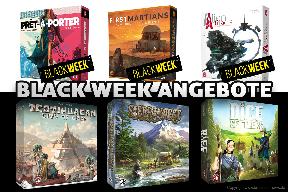 BLACK WEEK // Portal Games + Board & Dice bis zu 75% Rabatt