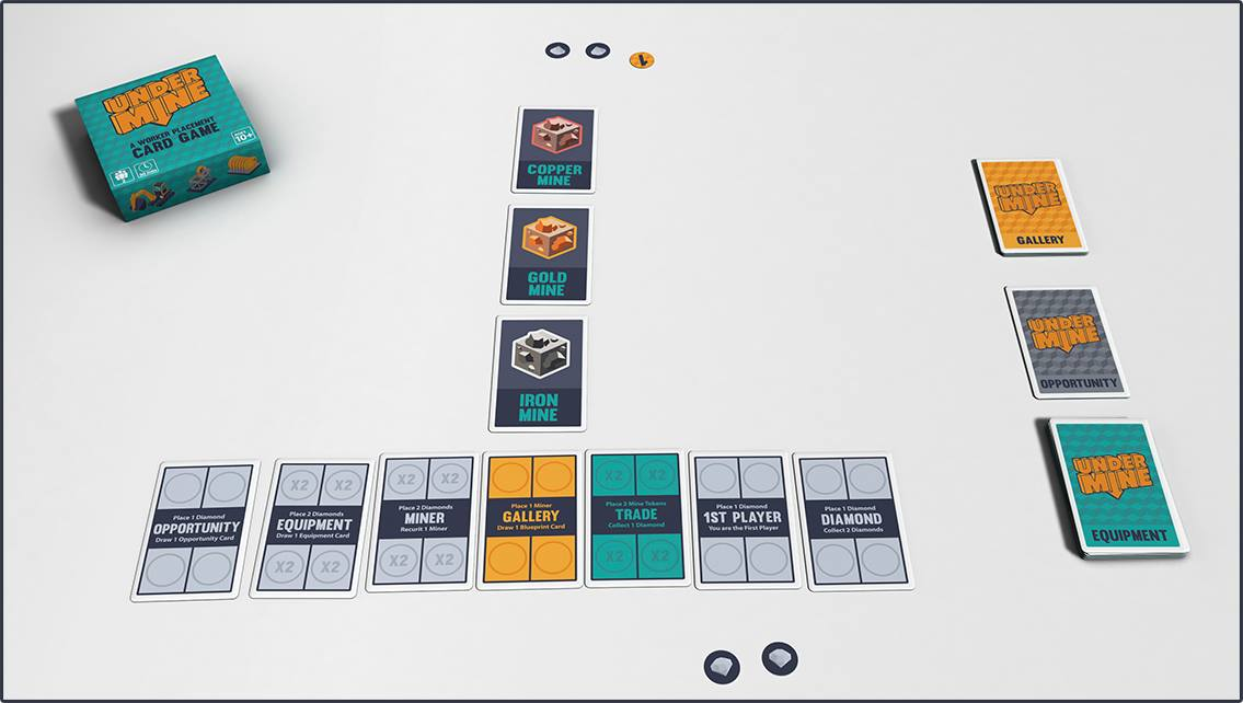 Worker Placement Kartenspiel Undermine bei Kickstarter