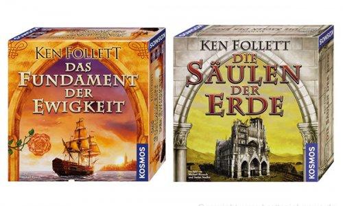 KEN-FOLLETT-PACKAGE // Kosmos bietet zwei Spieleklassiker an