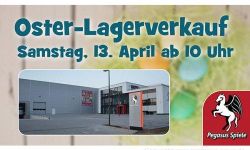 PEGASUS SPIELE // Lagerverkauf am 13.04.2019