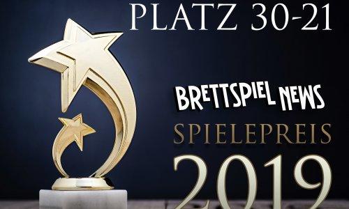 BRETTSPIEL-NEWS SPIELEPREIS 2019 // PLATZ 30-21