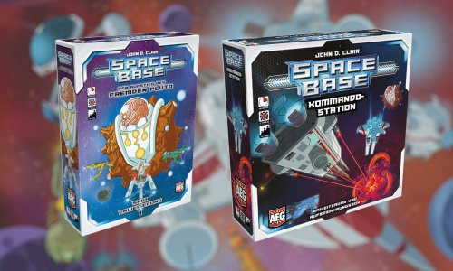 SPACE BASE // zwei Erweiterungen erscheinen wohl noch dieses Jahr auf Deutsch
